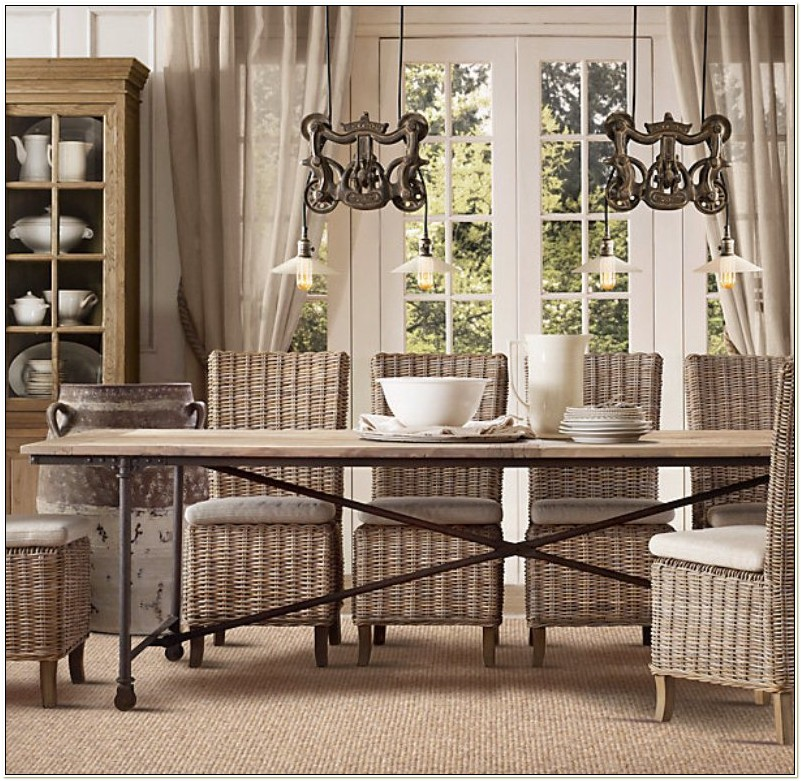 Indoor Wicker Dining Table And Chairs