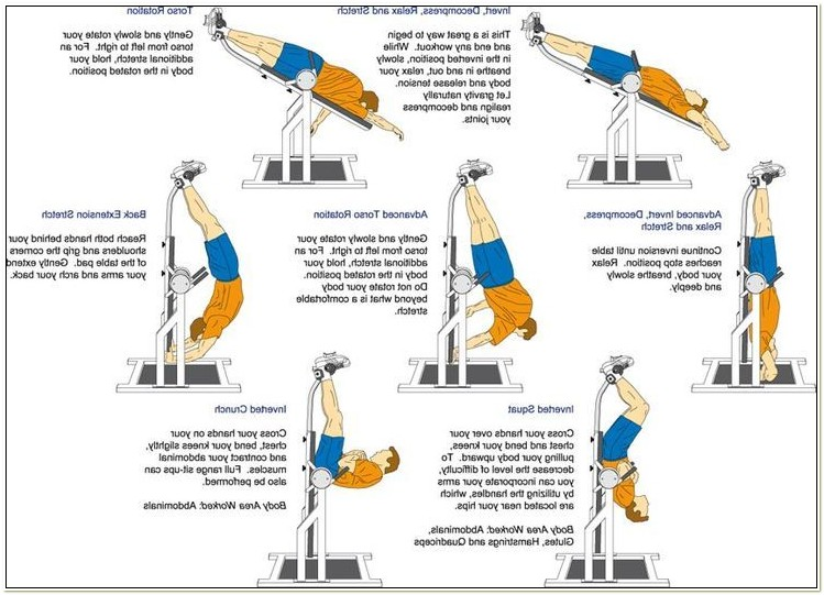 Inversion Tables For Sciatica Back Pain
