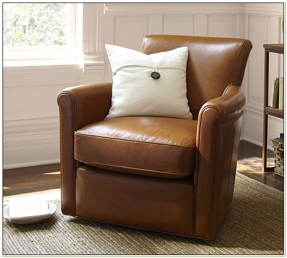 Irving Swivel Chair Pottery Barn