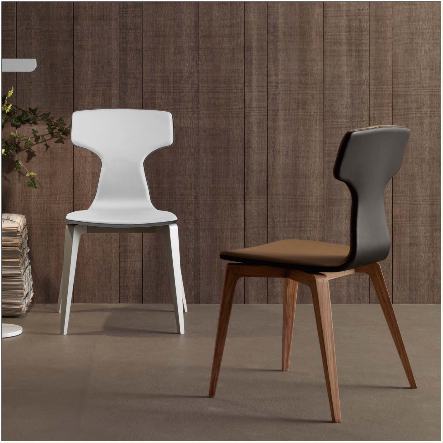 Italian Modern Wood Dining Chairs