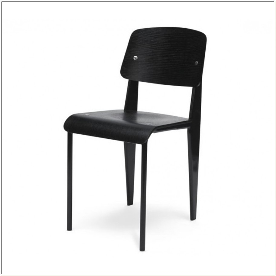Jean Prouve Style Black Standard Chair