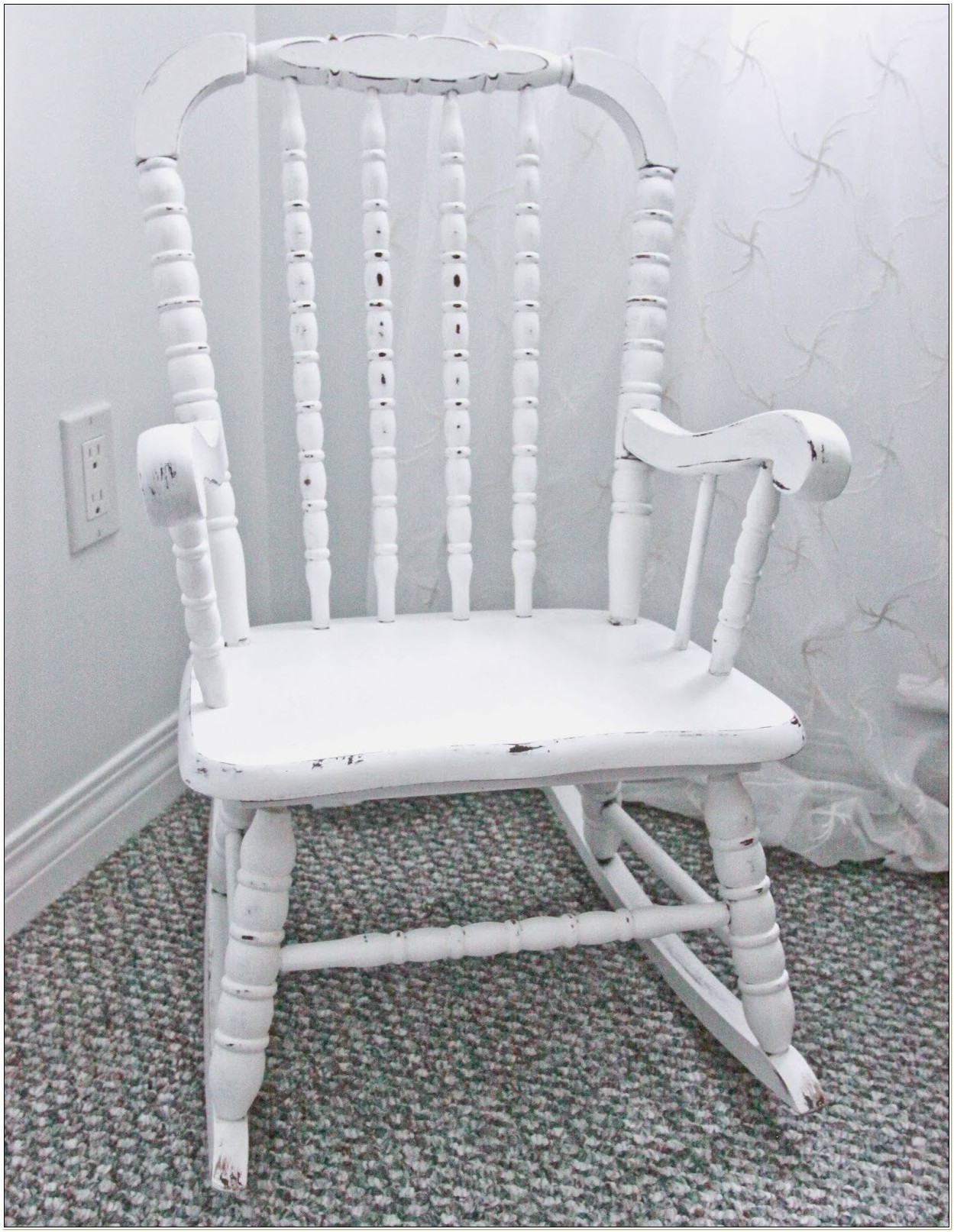 Jenny Lind Rocking Chair White