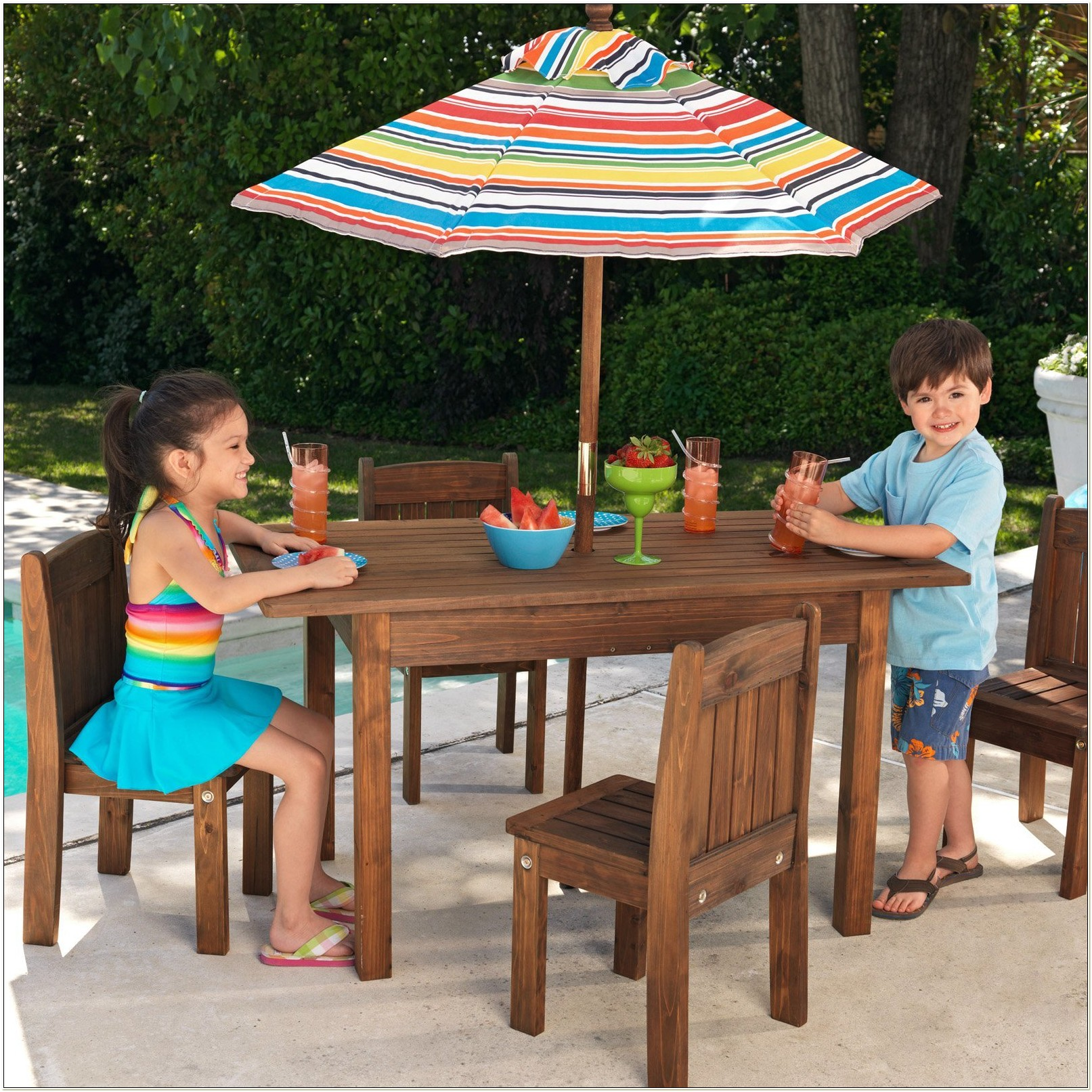 Kidkraft Outdoor Table Stacking Chair Set