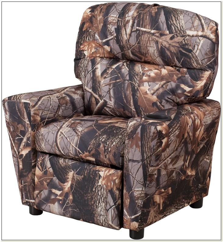 Kids Camo Recliner Chair