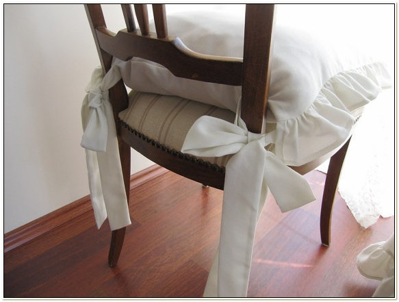 Kitchen Chair Cushions With Ruffles