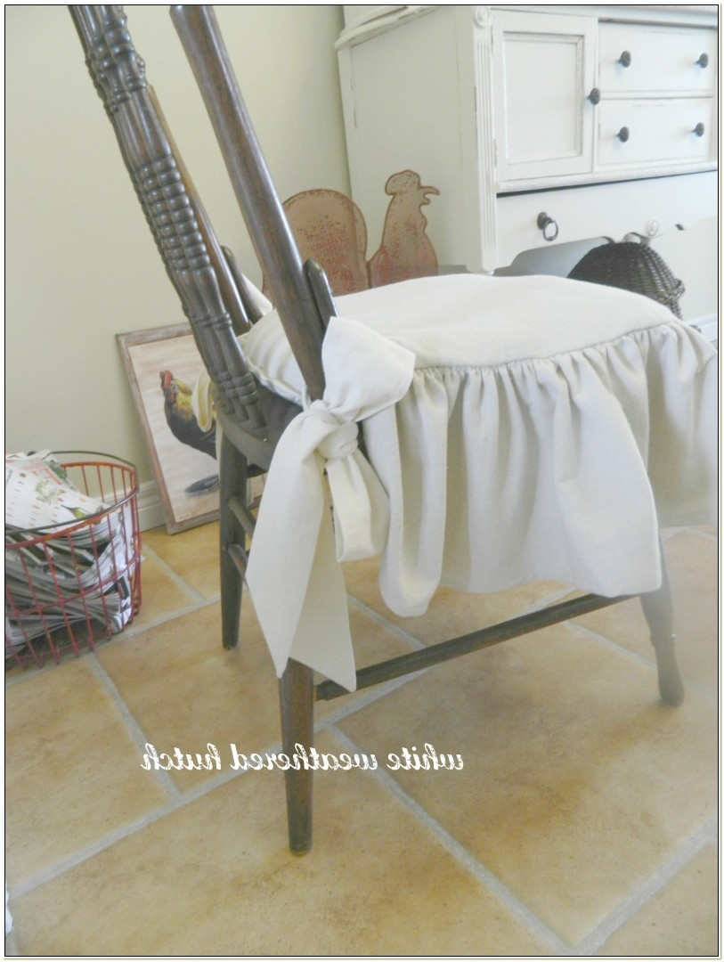 Kitchen Chair Pads With Ruffles