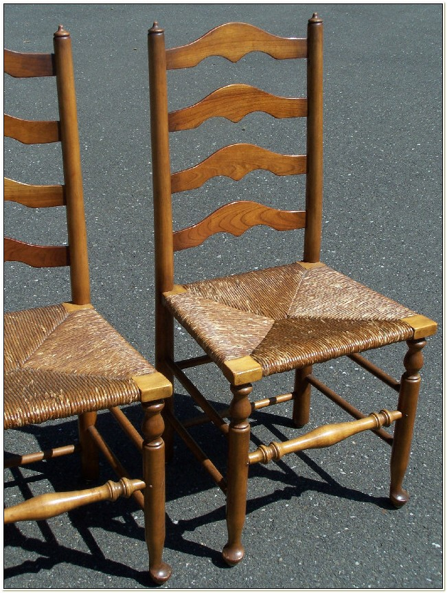 Ladder Back Rush Seat Chairs