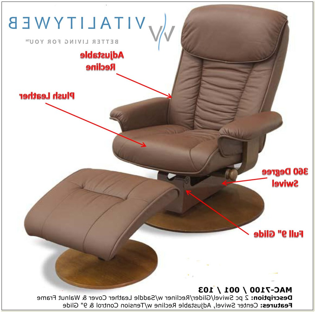 Leather Glider Recliner Chair