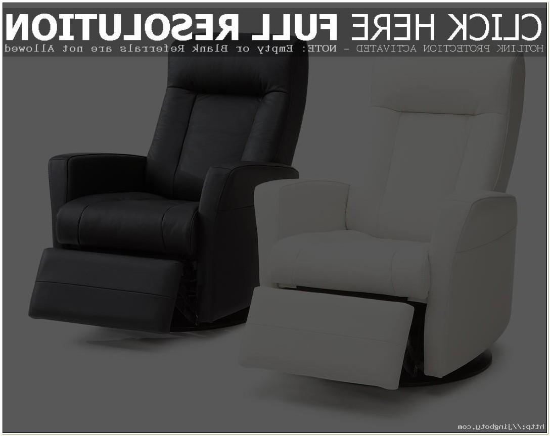 Leather Glider Rocker Recliner Chair