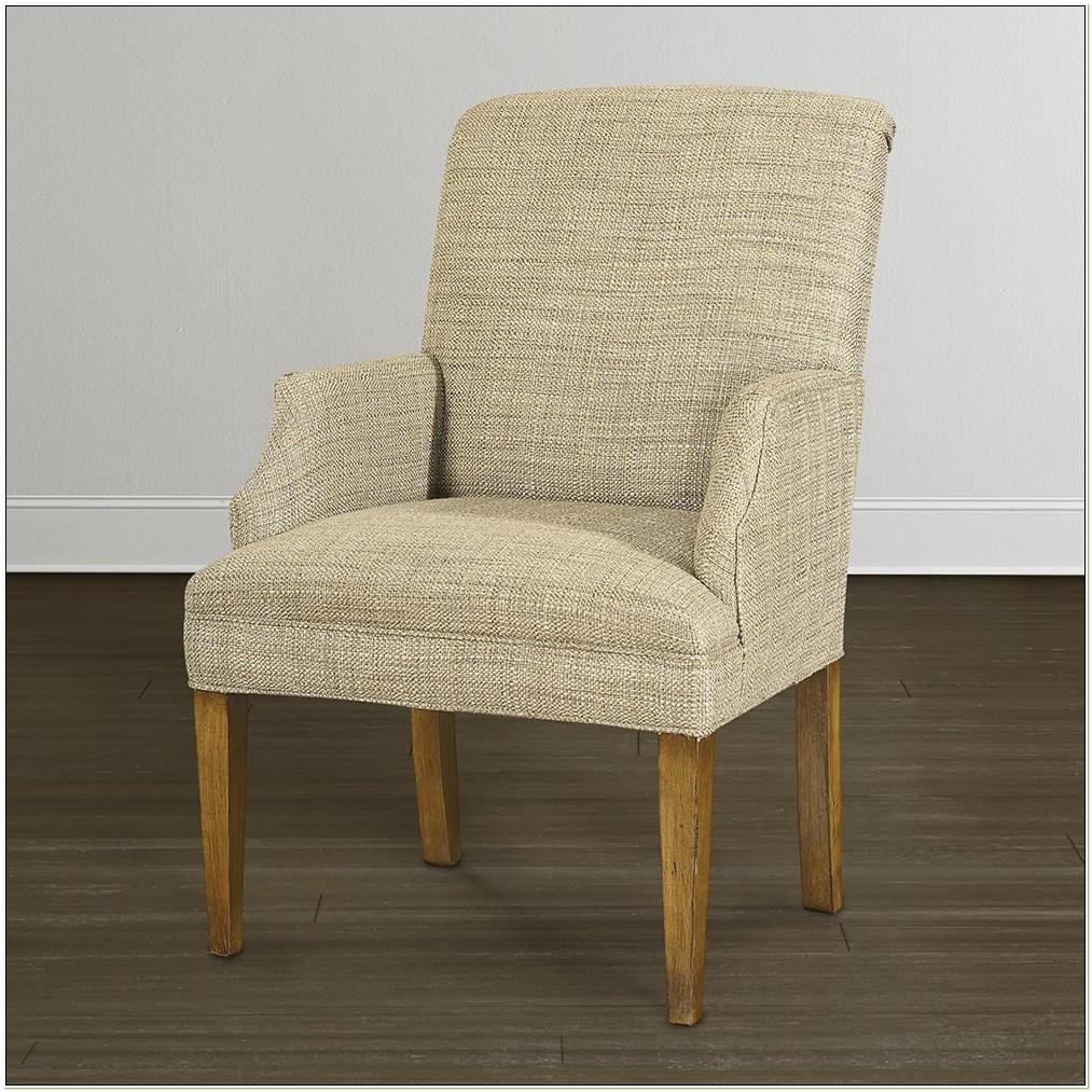 Leather Parsons Chair With Arms