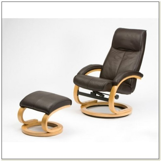Leather Recliner Chair And Stool