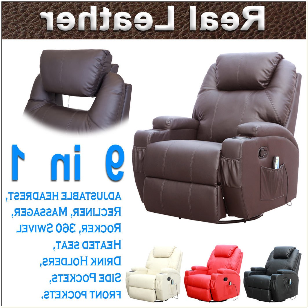 Leather Recliner Chair With Massage