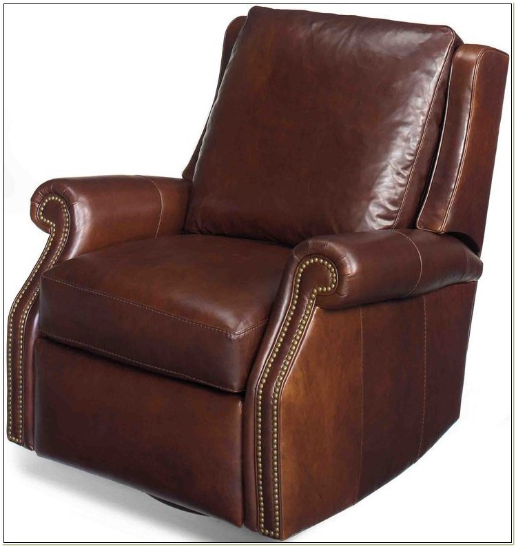 Leather Swivel Glider Recliner Chair