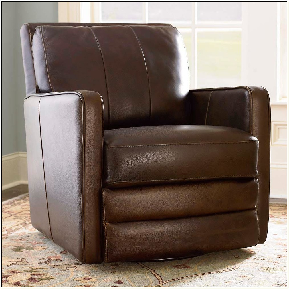 Leather Swivel Rocker Recliner Chair