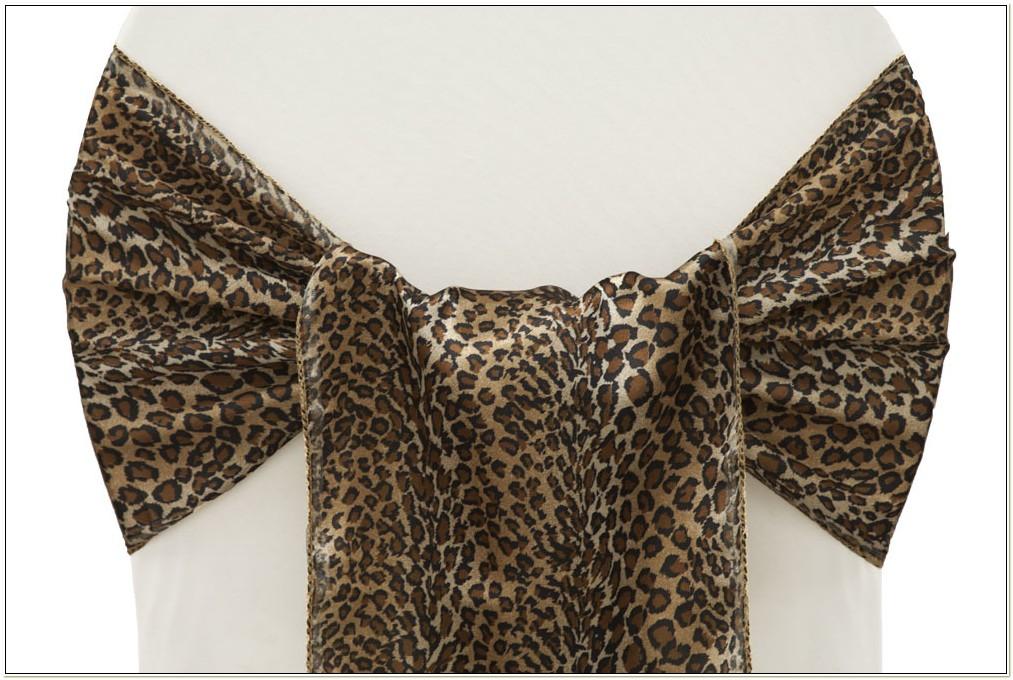 Leopard Print Chair Sashes