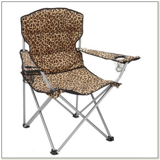 Leopard Print Folding Camping Chair
