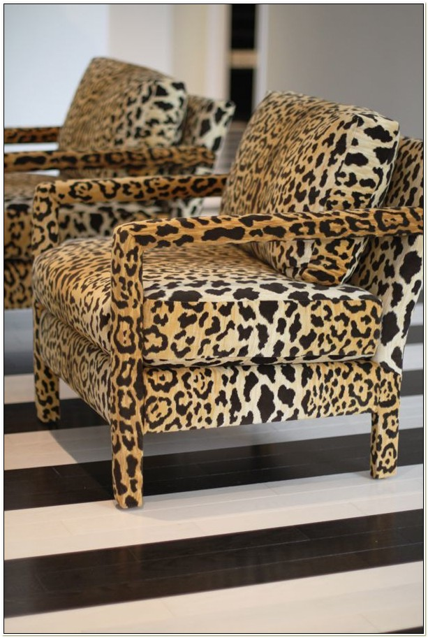 Leopard Print Parsons Chairs