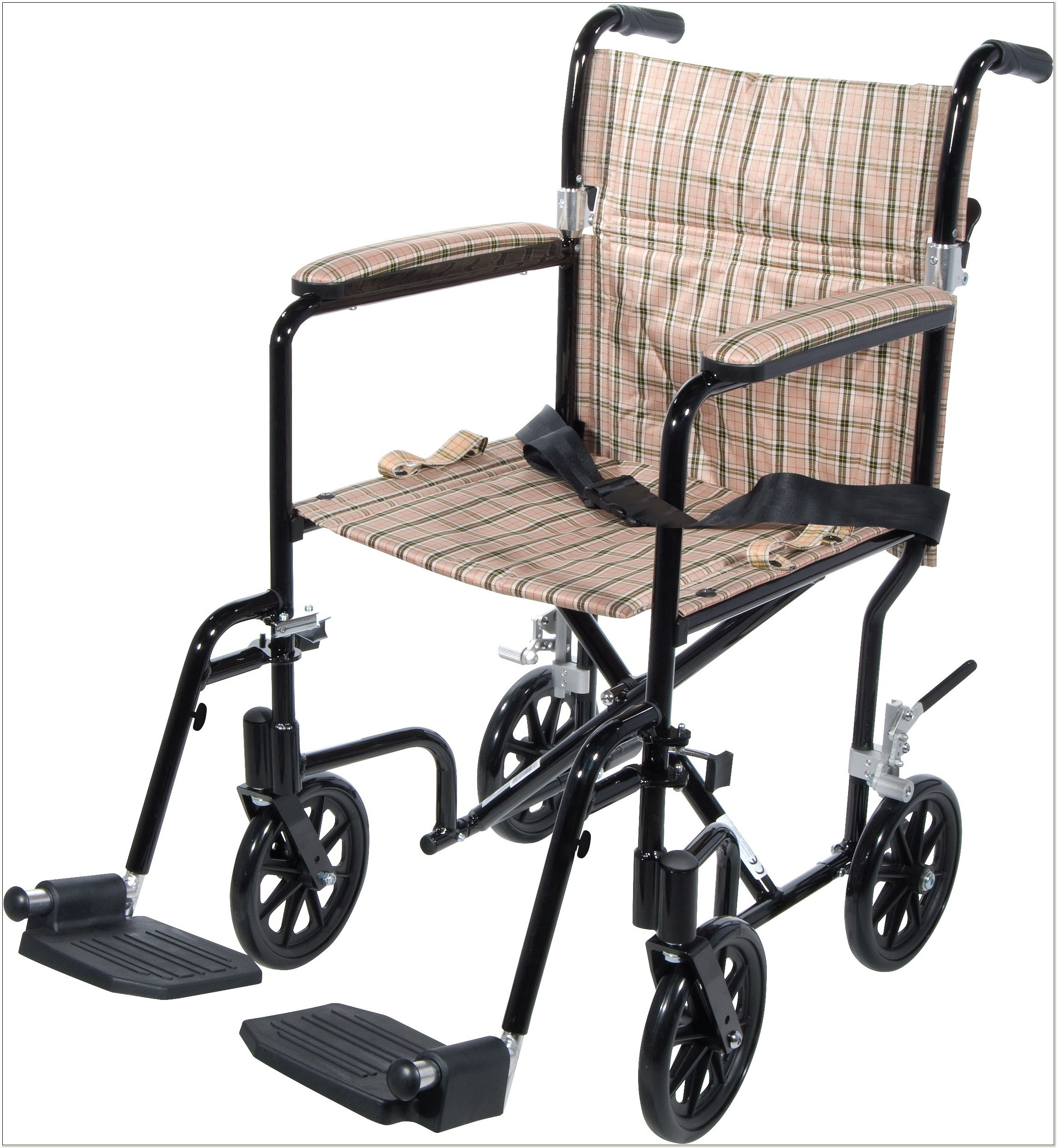 Lightweight Folding Transport Wheelchair