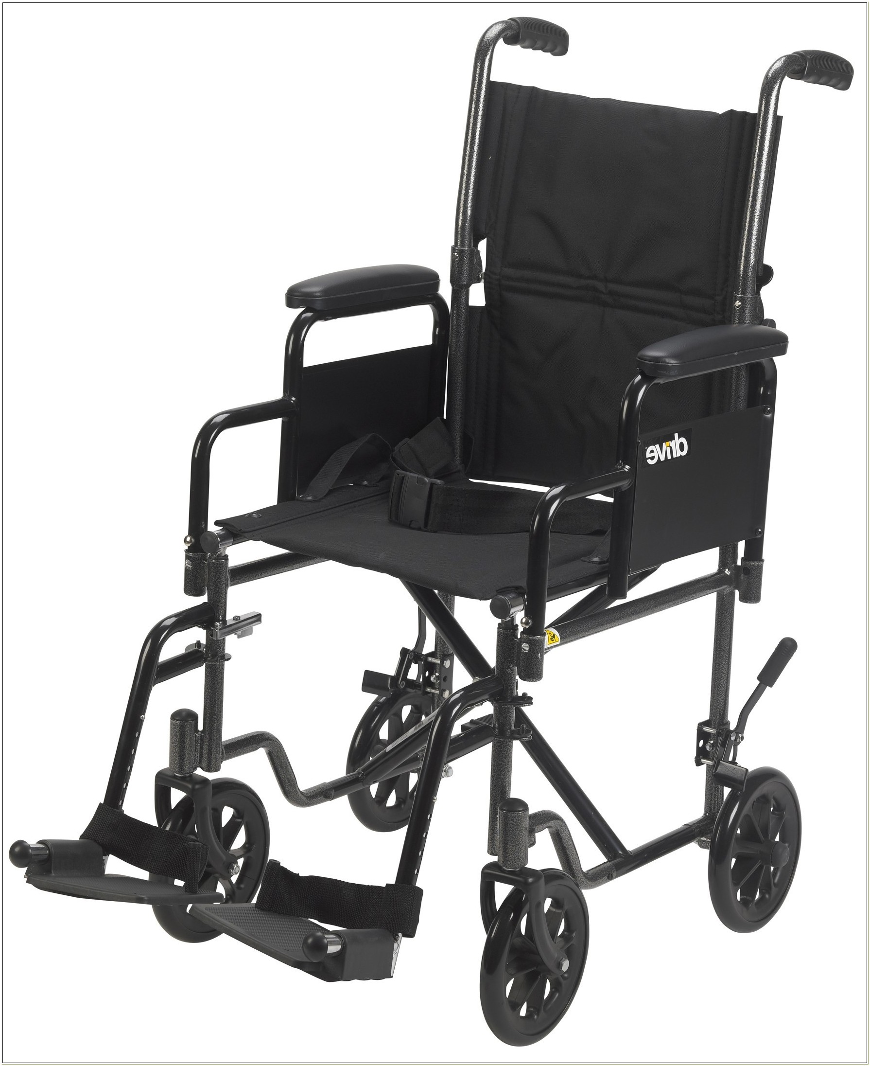 Lightweight Transport Wheelchair With Removable Arms