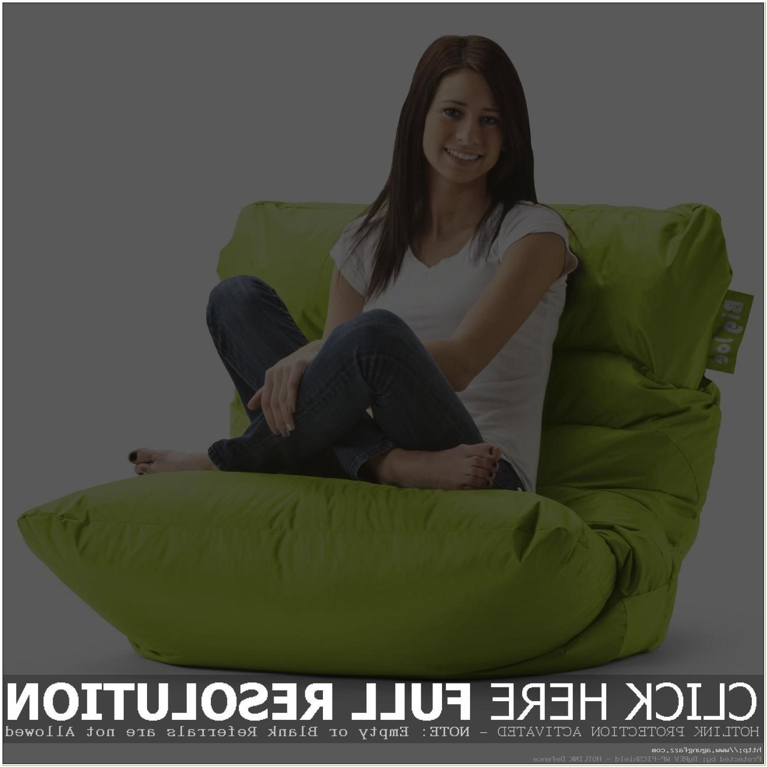 Lime Green Vinyl Bean Bag Chair