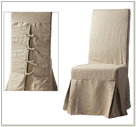 Linen Dining Chair Slip Covers