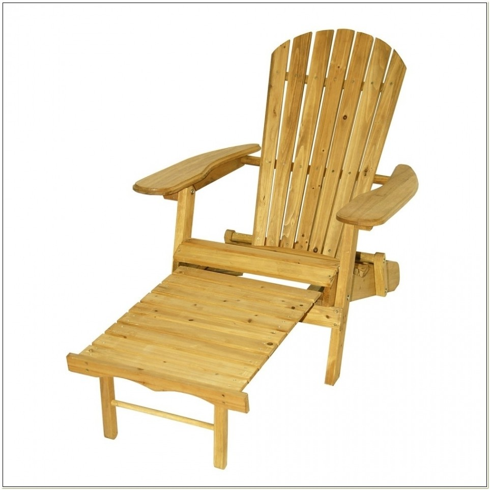 Living Accents Folding Adirondack Chair Ottoman