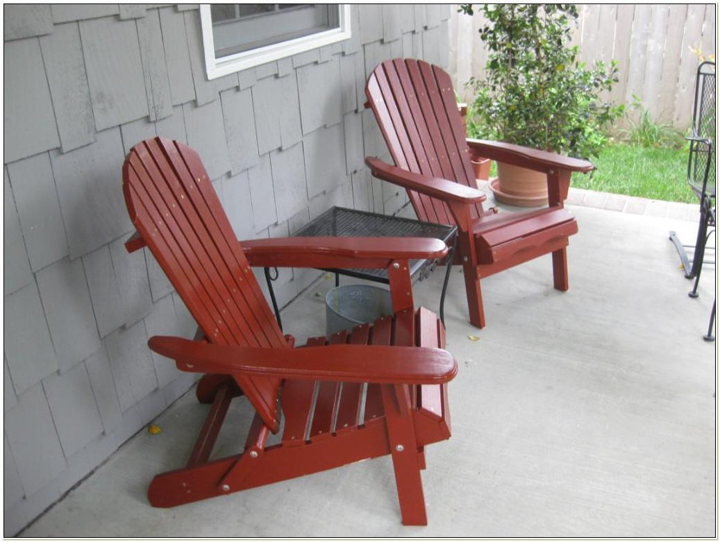 Living Accents Red Folding Adirondack Chair
