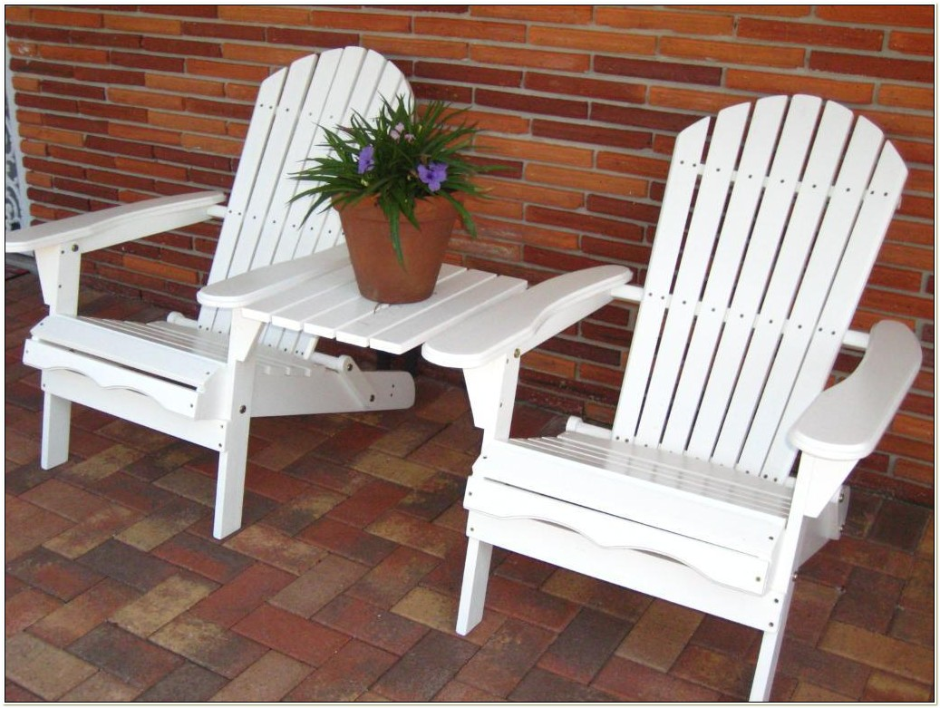 Living Accents White Folding Wood Adirondack Chair
