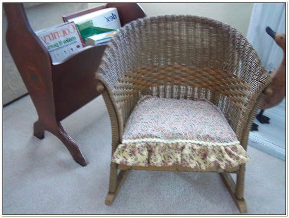 Lloyd Loom Wicker Rocking Chair