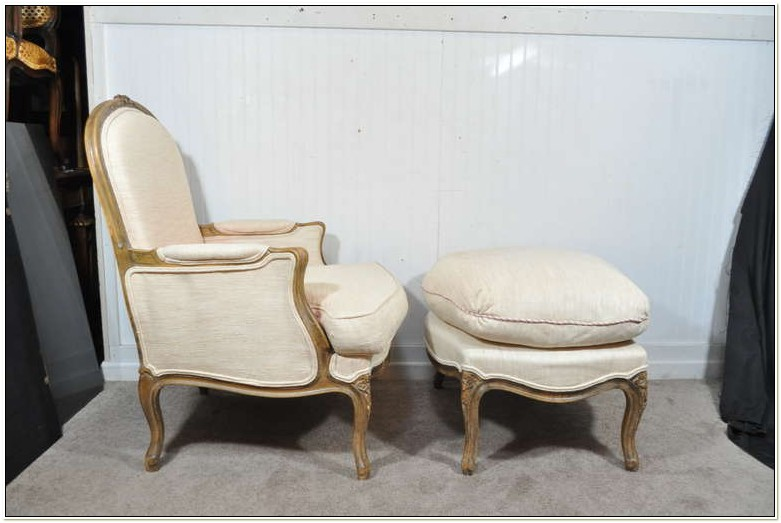 Louis Xv Bergere Chair And Ottoman
