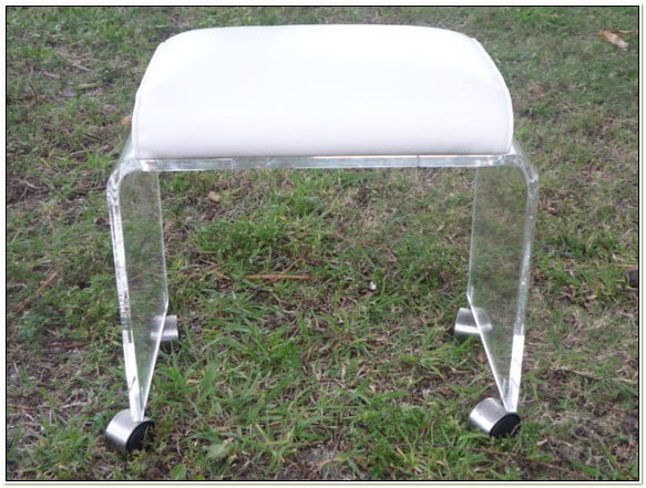 Lucite Vanity Chair With Wheels