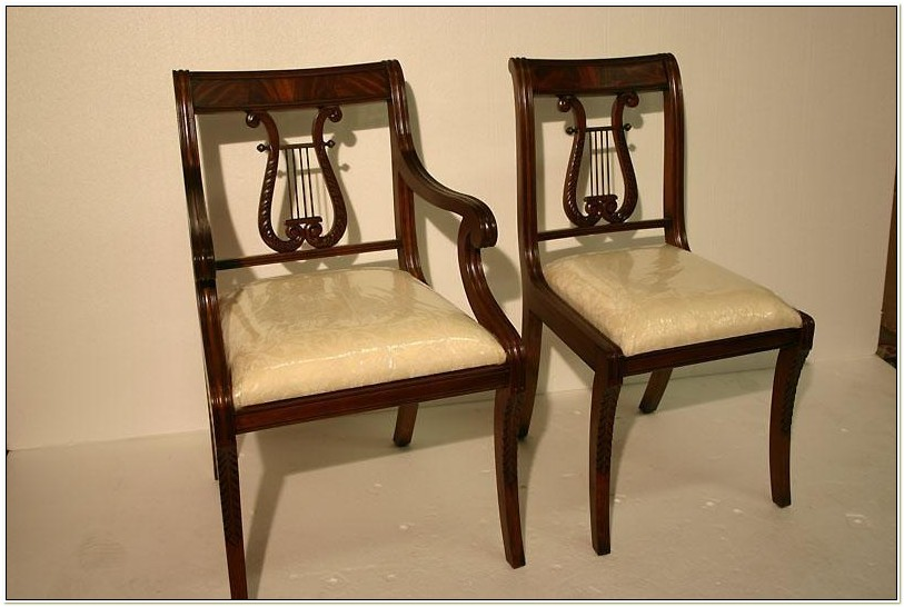 Lyre Back Dining Chairs
