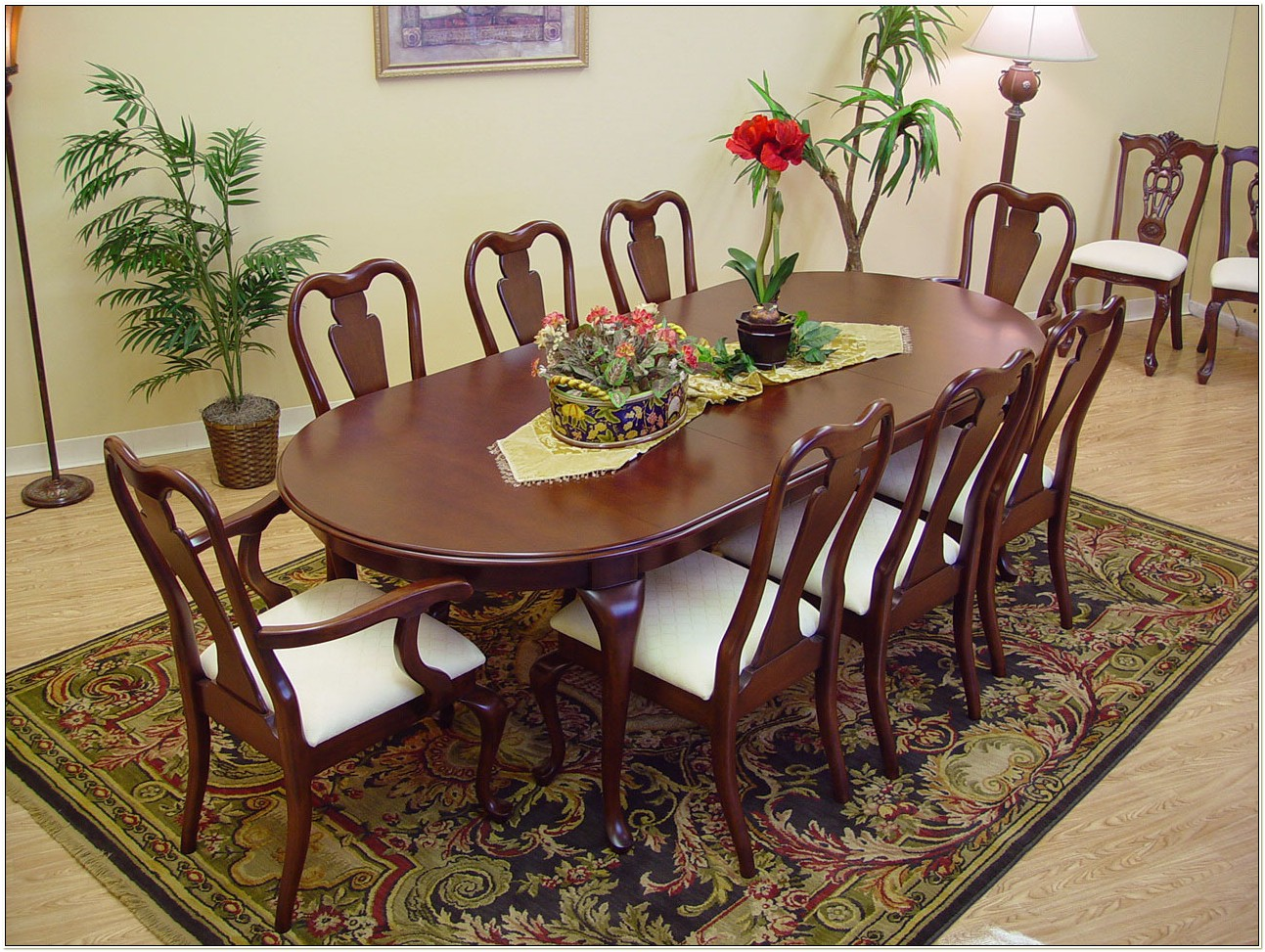 Mahogany Queen Anne Dining Room Chairs