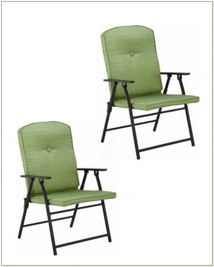 Mainstay Padded Folding Lawn Chairs