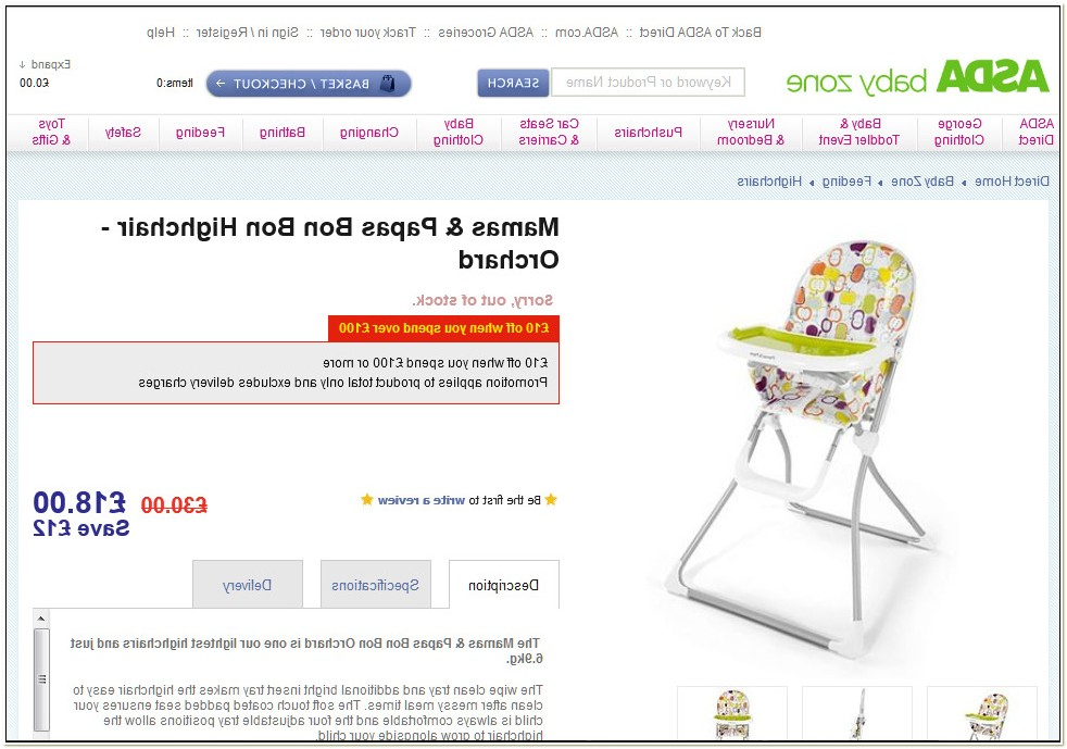 Mamas And Papas Bon Bon Highchair