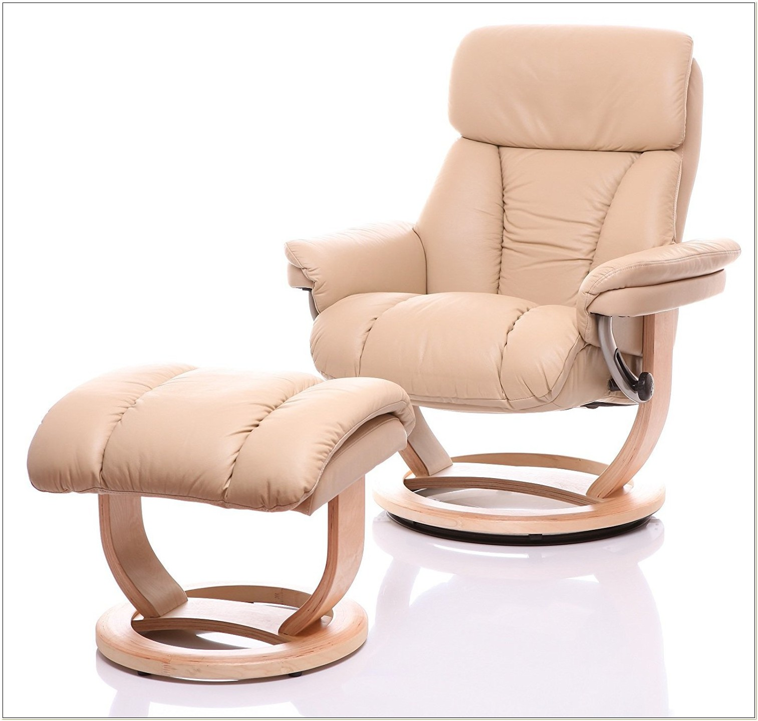 Mars Leather Recliner Chair And Footstool