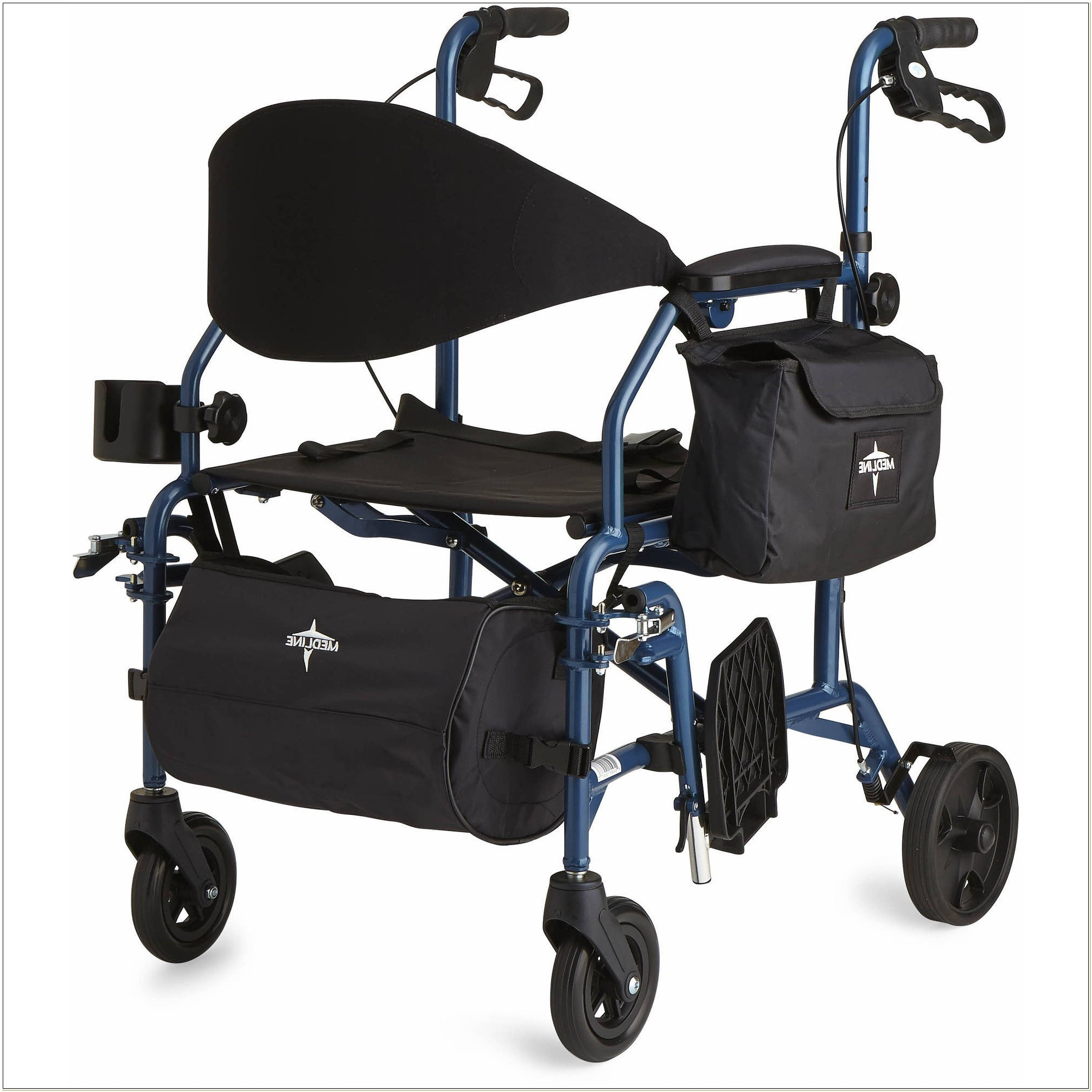 Medline Rollator Walker Transport Chair