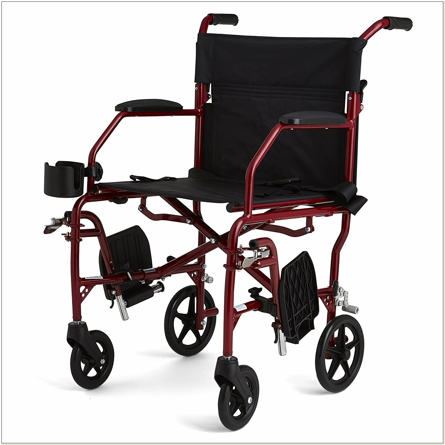 Medline Ultralight Transport Chair 19 Wide Seat