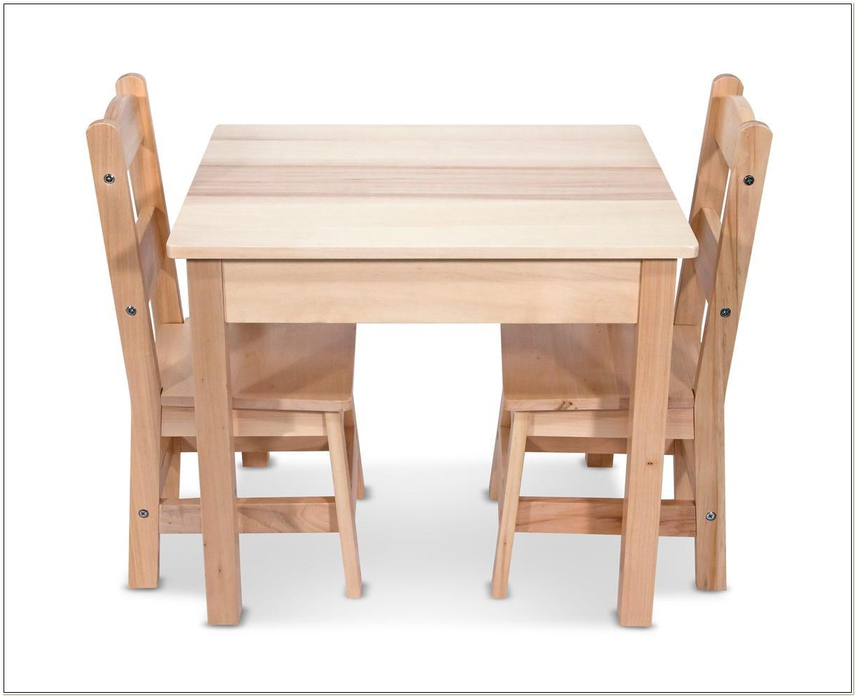 Melissa And Doug Table And Chair Set