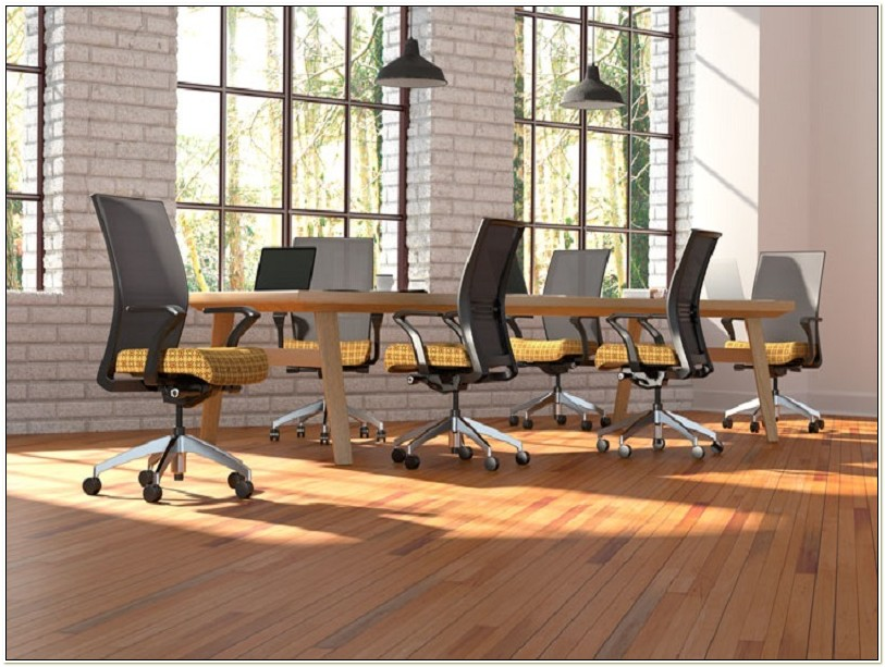 Mesh Conference Room Chairs With Casters