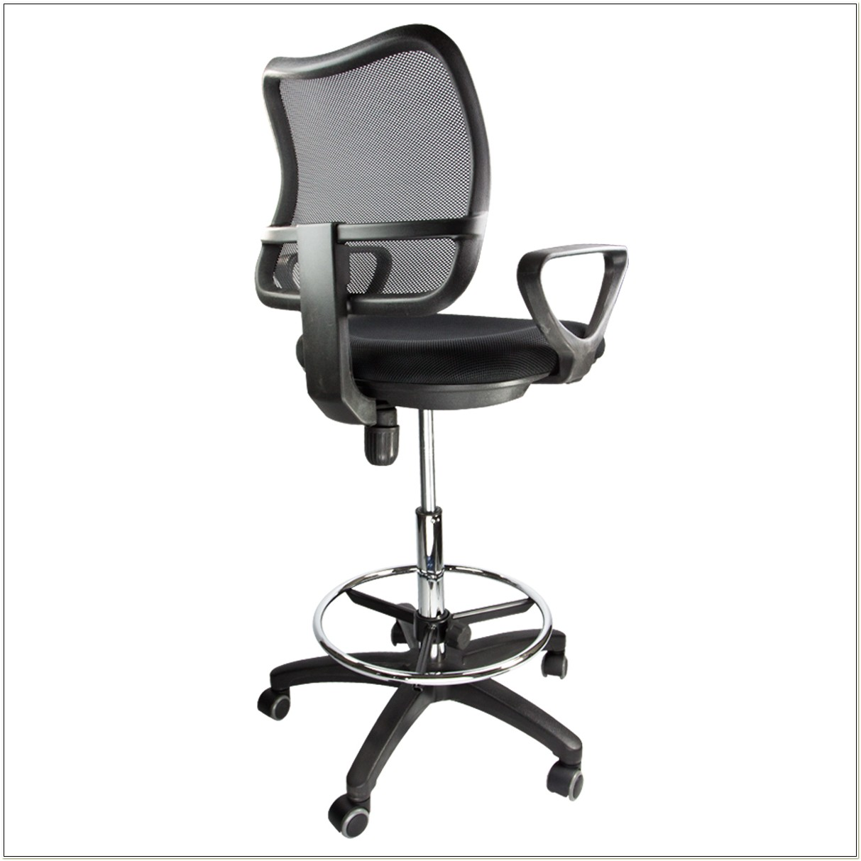 Mesh Drafting Chair With Arms