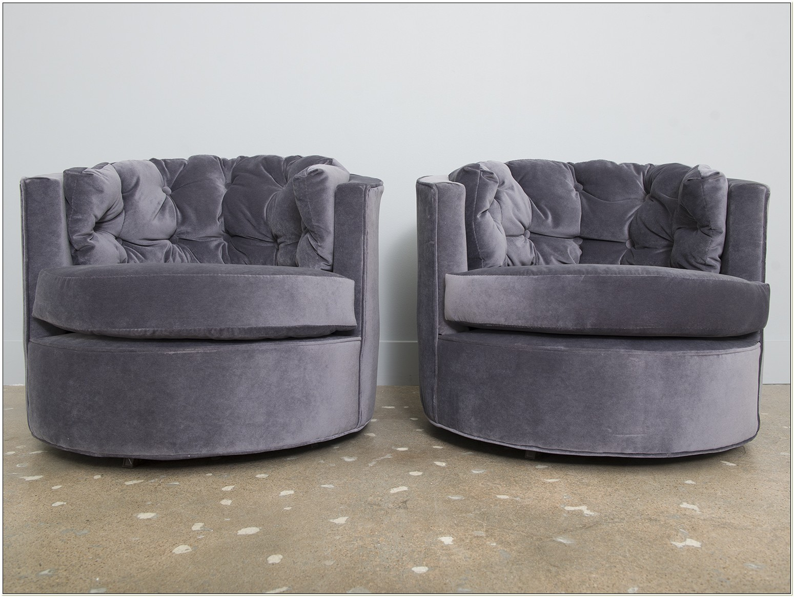 Milo Baughman Swivel Club Chairs