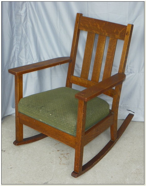 Mission Oak Rocking Chair Antique