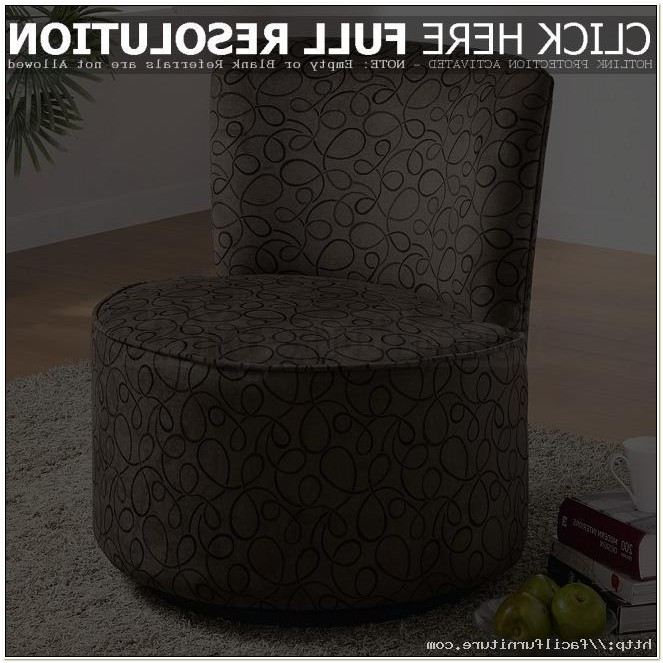 Moda Brown Microfiber Round Swivel Chair