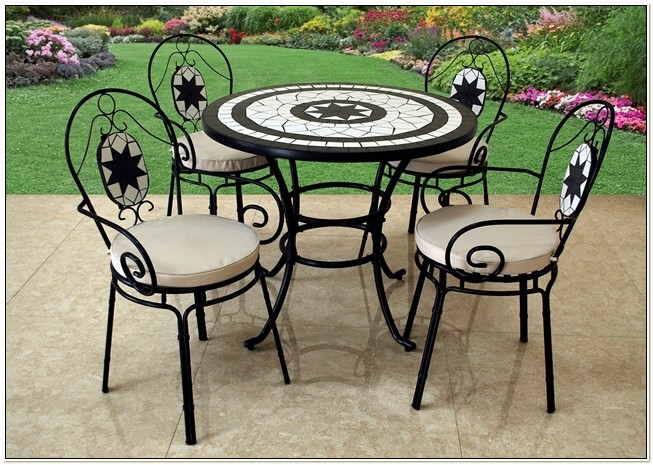 Mosaic Bistro Table And 4 Chairs