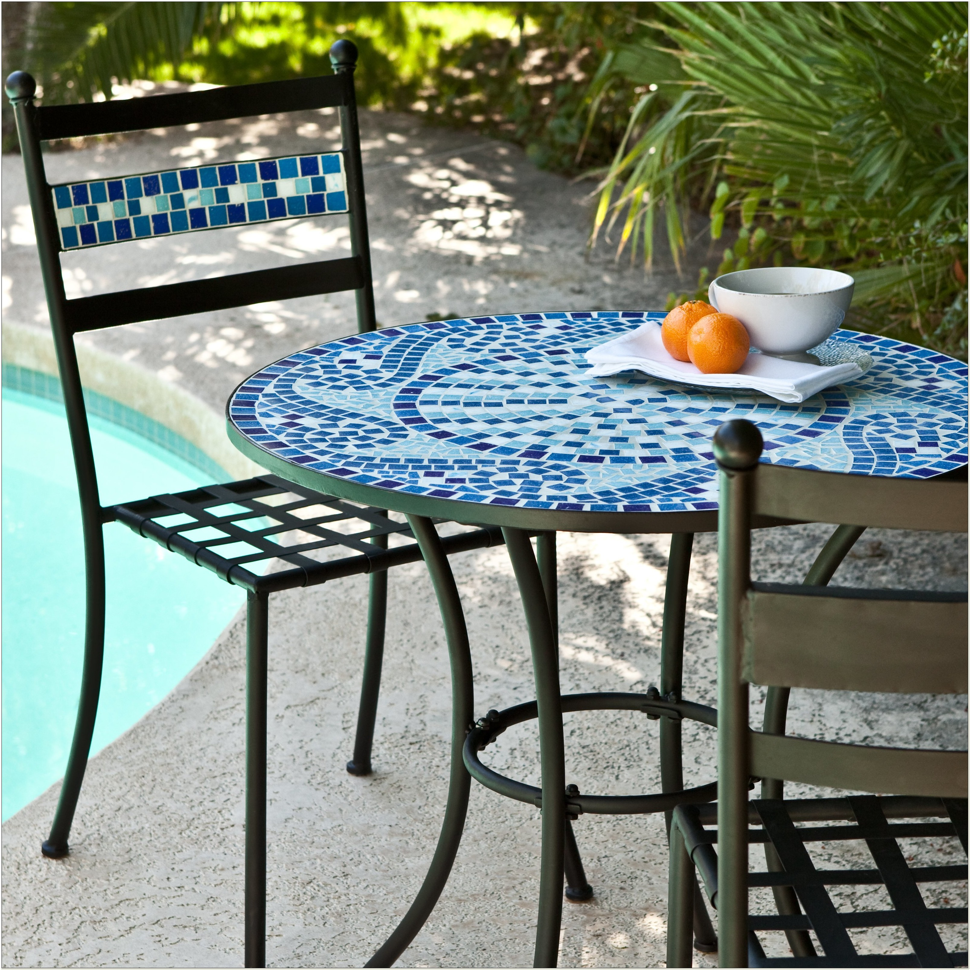 Mosaic Tile Bistro Table And Chairs