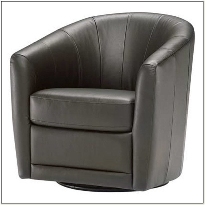 Natuzzi B596 Leather Swivel Chair