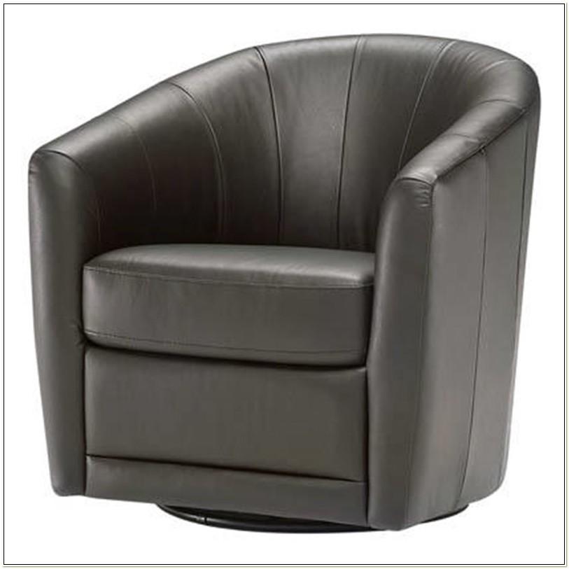 Natuzzi B596 Leather Swivel Chair
