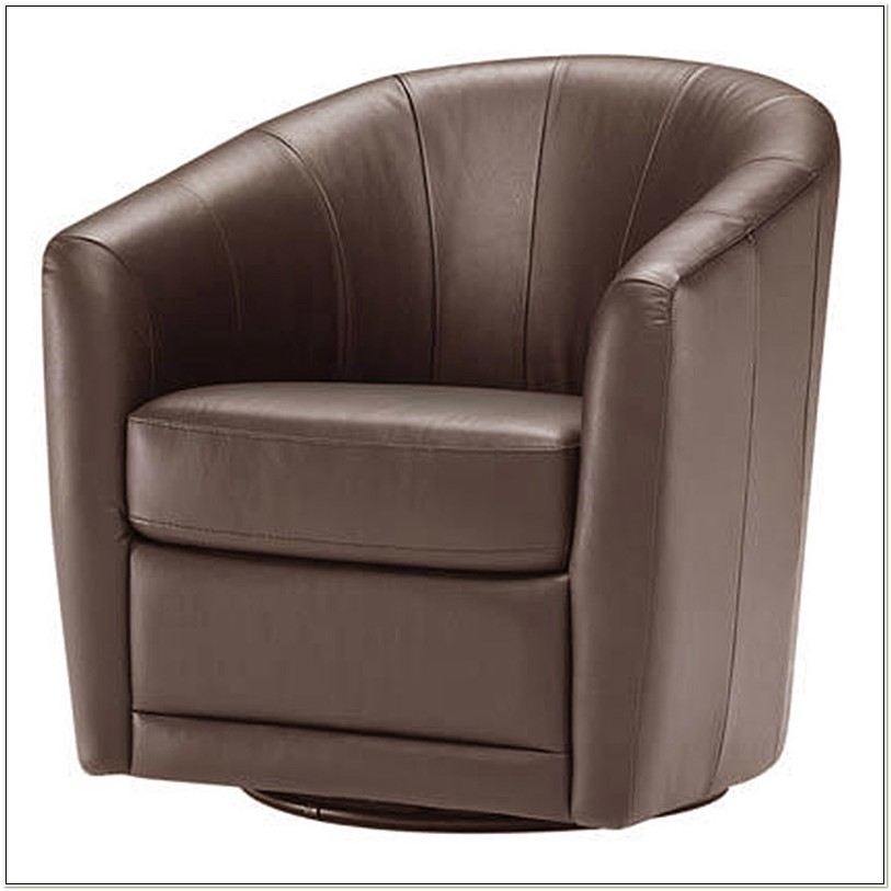 Natuzzi Editions Leather Swivel Chair