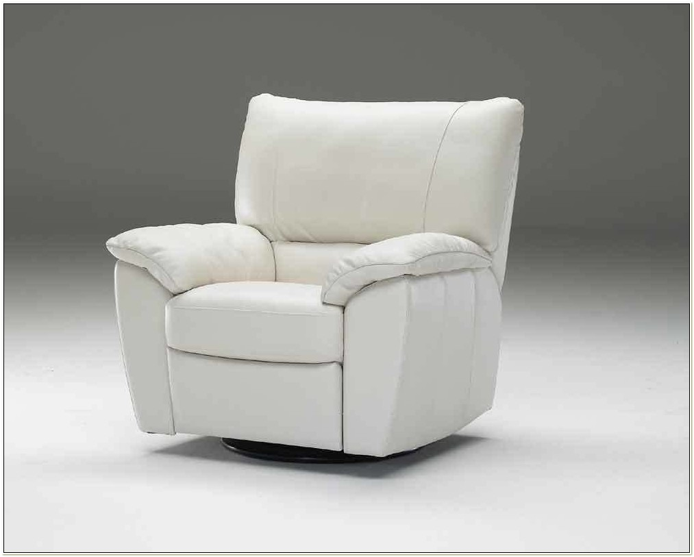 Natuzzi Leather Swivel Recliner Chair